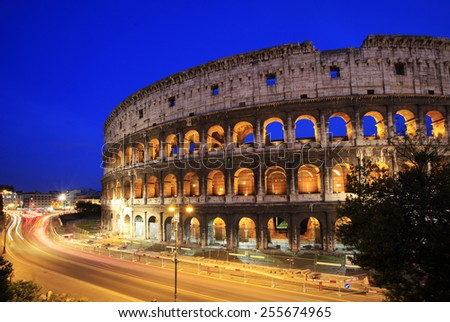 Coliseum in the evening, Rome, Italy
