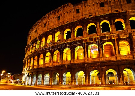 Coliseum -The Flavian Amphitheater in Rome, Italy