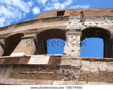 Colisseum in Rome, Italy - stock photo