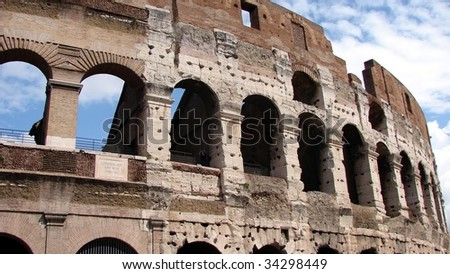 Colisseum panoramic view - stock photo