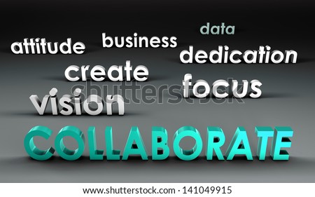 Collaborate at the Forefront in 3d Presentation - stock photo