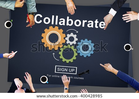 Collaborate Join Partnership Support Togetherness Concept