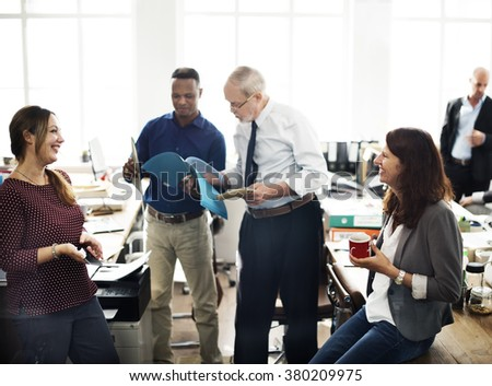 Collaboration Communication Togetherness Office Concept - stock photo