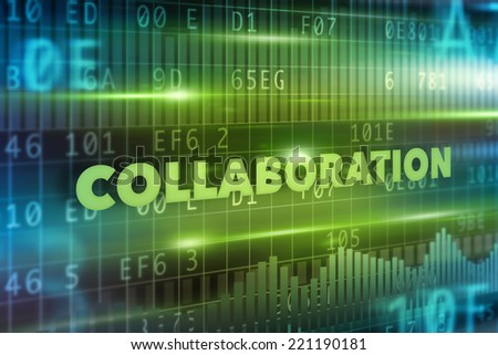 Collaboration concept - stock photo