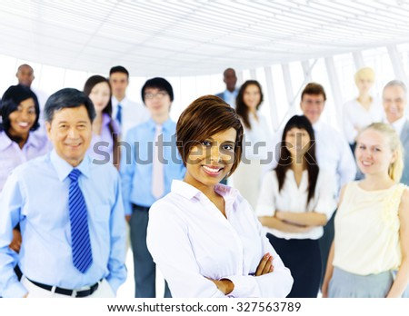 Collaboration Corporate Cooperation Professional Concept - stock photo