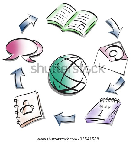 Collaboration ideal concept - stock photo