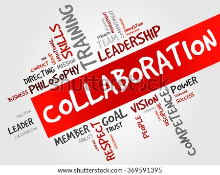 COLLABORATION word cloud, business concept - stock photo