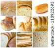 collage about bread theme - stock photo