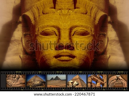 Collage 004b Wonders of Egypt (color without title) - stock photo