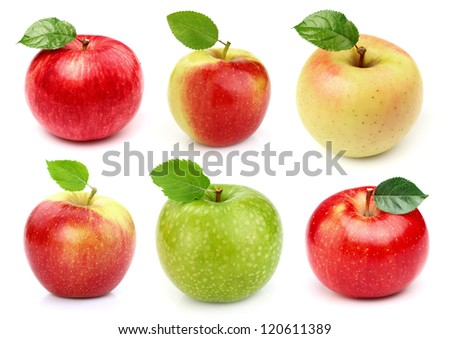 Collage from apples - stock photo