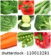 Collage from fresh vegetables - stock photo