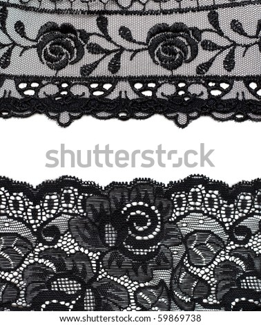 Collage lace with pattern in the manner of flower. Picture is formed from several photographies