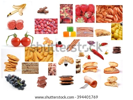 collage of a various food