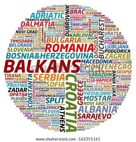 collage of balkan countries and cities