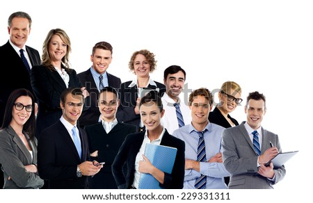 Collage of business experts - stock photo