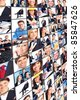 Collage of business people. Business team. - stock photo