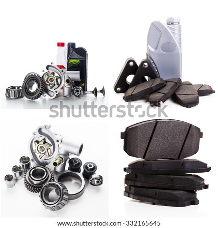 Collage of car parts