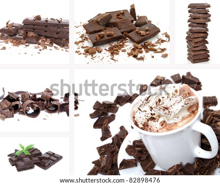 collage of chocolate - stock photo