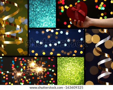 Collage of Christmas time - stock photo