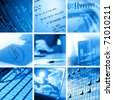 Collage of computer and business images - stock photo