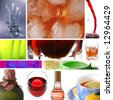 Collage of drinks - stock photo