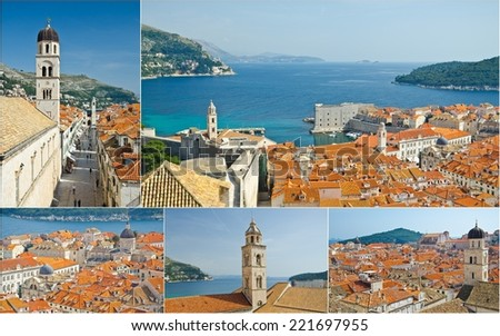 collage of Dubrovnik,Croatia - stock photo