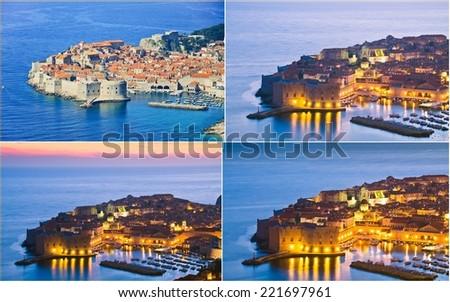 collage of Dubrovnik,Croatia - stock photo