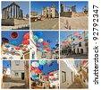 Collage of Evora - stock photo