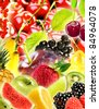 Collage of fruits - stock photo