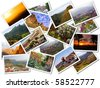 Collage of Gran Canaria, Canary Islands photos isolated on white background - stock photo