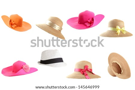 Collage of hats - stock photo