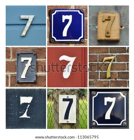 Number 7 stock photos images pictures shutterstock for Photo collage number templates