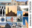 Collage of images of Venice, Italy. - stock photo