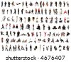 collage of isolated people over white background - stock photo