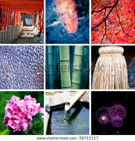 Collage of Japan - stock photo