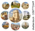 Collage of Lisbon. Portugal - stock photo