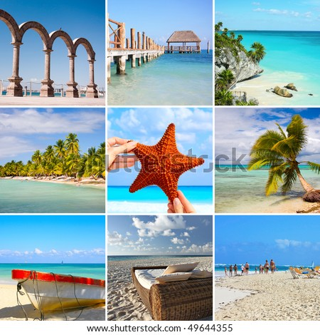 Collage of Mexico images. - stock photo