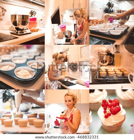 "Woman Decorating Cupcakes cupcake batter"" stock photos, royalty-free images & vectors"