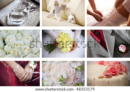 collage of perfect wedding photos