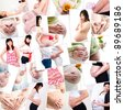 Collage of pregnancy photo, all photo belongs to me - stock photo