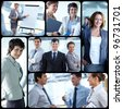 Collage of successful businessmen and businesswomen - stock photo
