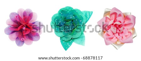 collage of the three tissue on a white background - stock photo