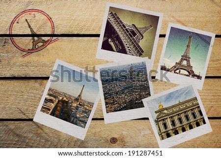 collage paris - stock photo