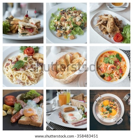 collage photo of food