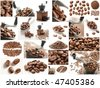Collage with Coffee Beans photos. - stock photo
