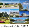 Collage with famous places, landmarks and buildings of Vienna. - stock photo