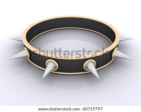 collar with spikes - stock photo
