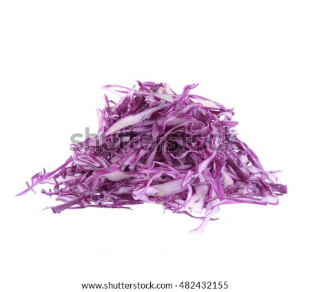 Collard purple isolated on white background.
