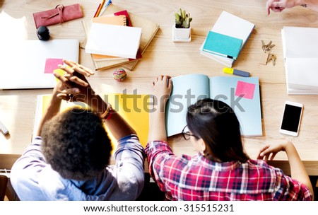 Colleagues Connection Student Relationship Team Concept - stock photo