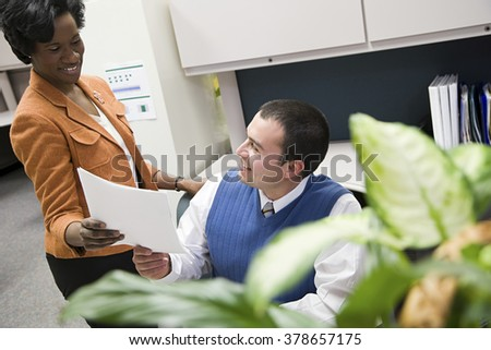 Colleagues in office - stock photo